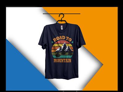 mountine tree mountain mount road vector typography design nice good branding best t-shirt t shirt best