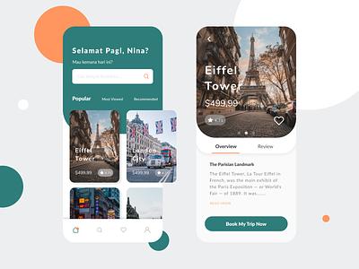 Travel App ui design travel app uiux mobile design