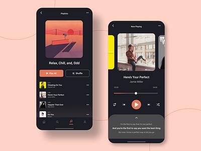 Music Player App @dailyui music player uiux mobile design