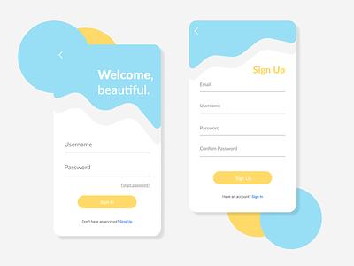 Login and Sign Up Design UI/UX @dailyui