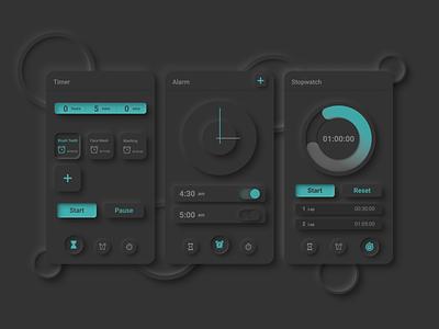 Clock App Design | Neumorph | Skumorph