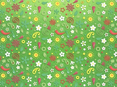 Spring chilli pattern spring repeating pattern vector illustration pattern graphic design design