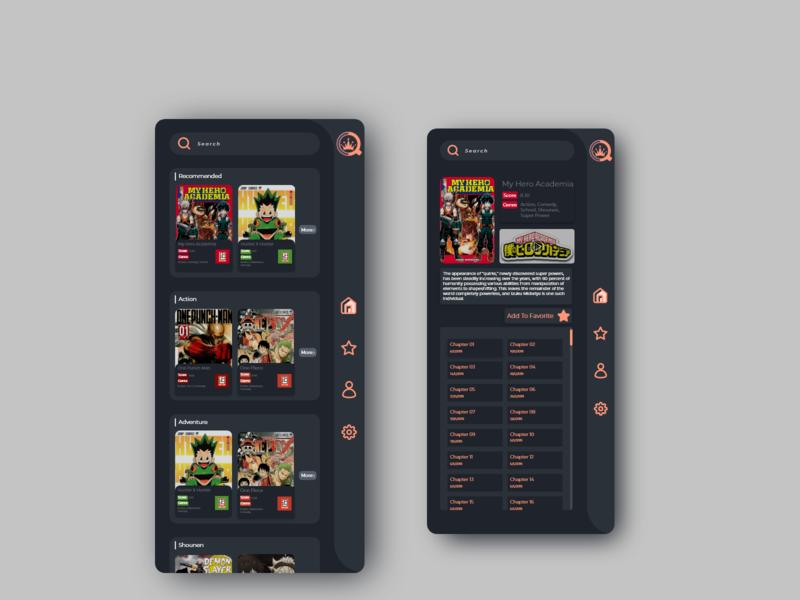 ComiQueen Mobile UI Design