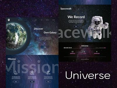 Universe Website Concept designer universe web design animation web ux ui uiux illustration website design
