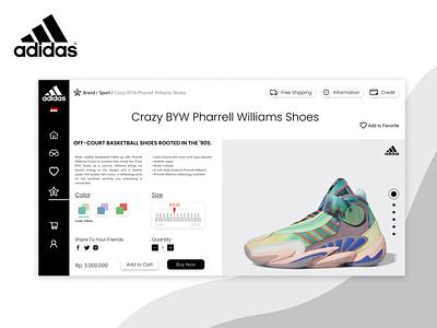 Adidas Redesign Concept minimalist ui web design web mobile app mobile uiux logo illustration website design