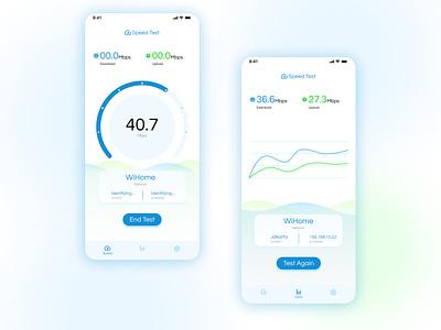 Speed Test Internet Mobile Apps typography speedtest app web design ui mobile app uiux mobile website design