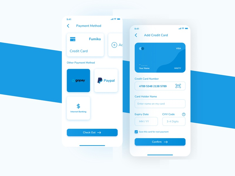 Credit Card Daily UI mobile app uiux ui mobile design daily ui 002 daily ui