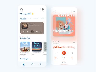 Music Player app figma uidesign clean web design mobile app ui uiux website design