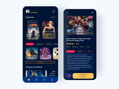 Mofilm Watching Movie Application mobile app mobile web web design branding uiux logo illustration website design