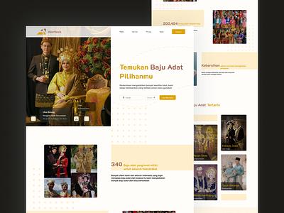 Landing Page - Adatnesia ui clean minimal typography web design branding logo uiux website design
