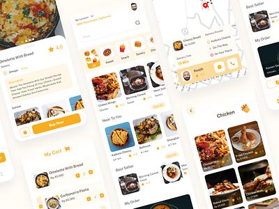 Uber Eats Food Apps Redesign - Mobile App Design app food clean minimal mobile ui branding uiux illustration website design