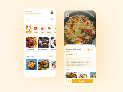 Eatkuy Food Mobile Apps food app mobile app mobile ui uiux illustration website design