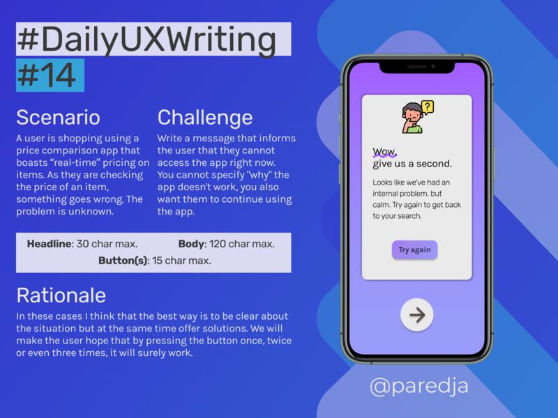 #DailyUXWriting #14 error message error message app design uxwriting ux dailyuxwriting dailyux