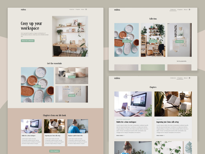 Web Design | Home - eCommerce - Blog setup workspace plants minimal artisan homepage blog ecommerce uxui uidesign uxdesign design ux