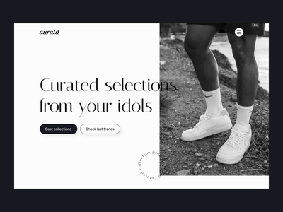 Minimal Hero Section - Web design - Black and white - nike nike affiliate clothing white black hero section web designer ui ux ui design ux design trend minimal design minimal visual design
