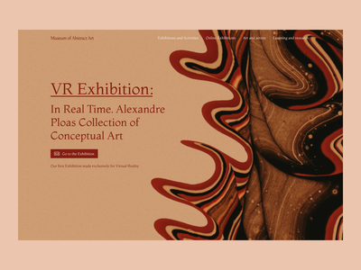 Museum of Abstract Art - Hero section - VR Exhibition vr abstract abstract art conceptual art exhibit design exhibition museum virtual reality web design ux design ui design design ui ux