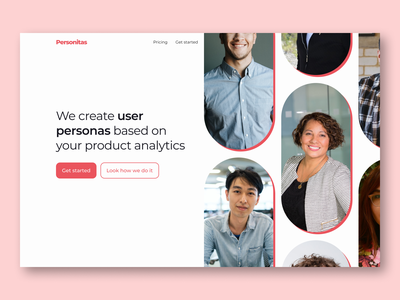 Create user personas - Hero section - Web design hero section personas analytics dashboard buyer personas analytics user persona hero section minimal web design ui design design ui ux
