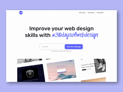Web design for #30daysofwebdesign - Hero section website design website 30days 30daysofwebdesign visual design flat branding minimal ux design web design ui design design ui ux