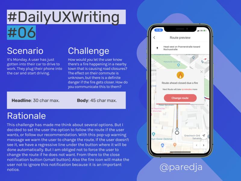 #DailyUXWriting #06 flat ui app design uxwriting ux dailyuxwriting dailyux