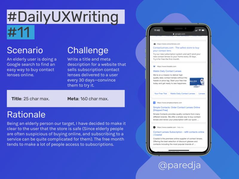 #DailyUXWriting #11 seo flat app design uxwriting ux dailyuxwriting dailyux