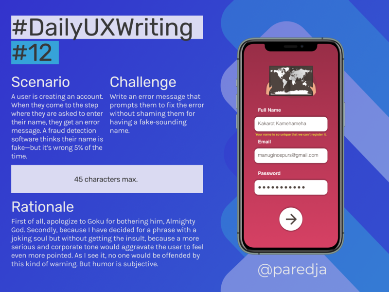 #DailyUXWriting #12 error message flat app design uxwriting ux dailyuxwriting dailyux