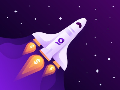 Investment rocket web design figma branding investing investment design vector illustration