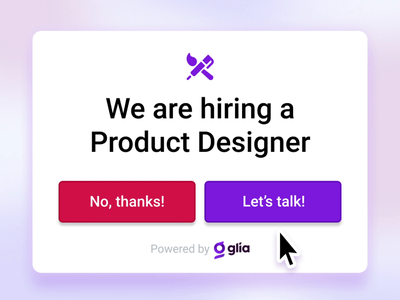 We're Hiring! animation ui ux glia design vector illustration