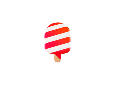 Pops Logo candy icecream popsicle pops 3d logo branding ui design