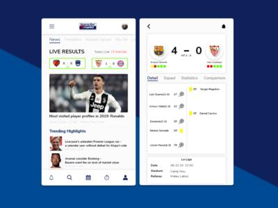 Transfer Markt App Design