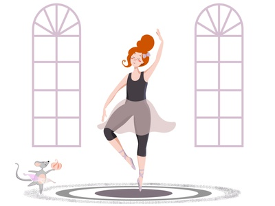 Ballet sweet mouse ballet vector illustration design