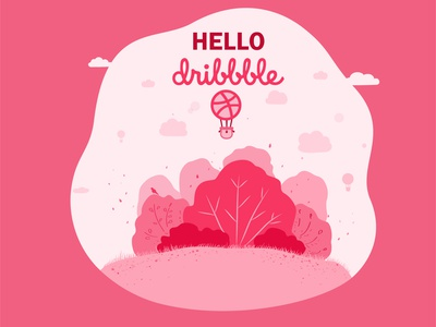 Hello dribbble! design vector illustration hello hello dribble
