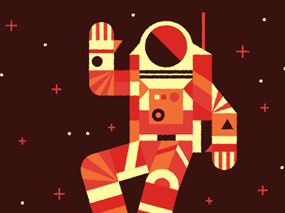 Hello Facebook Friends  astronaut space stars illustration waving happy hi hello facebook