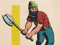 Lumberjack retrosupply procreate illustration retro axe comic book comic art color halftone halftone comic lumberjack