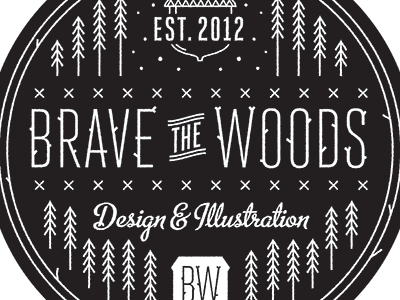 Brave the woods circle