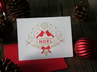 Noel card scene