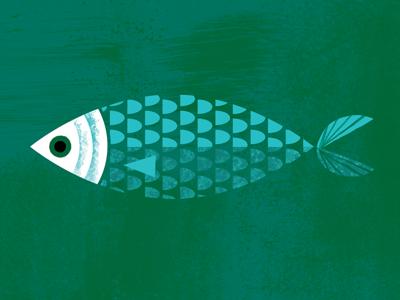 Bangus fish scales illustration book