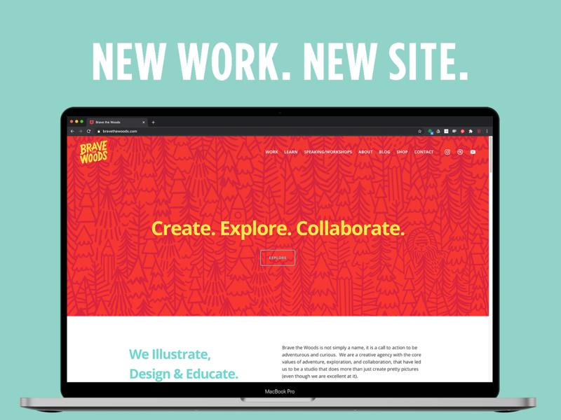 Brave New Website 2020 new website pattern design branding illustration creative agency website design
