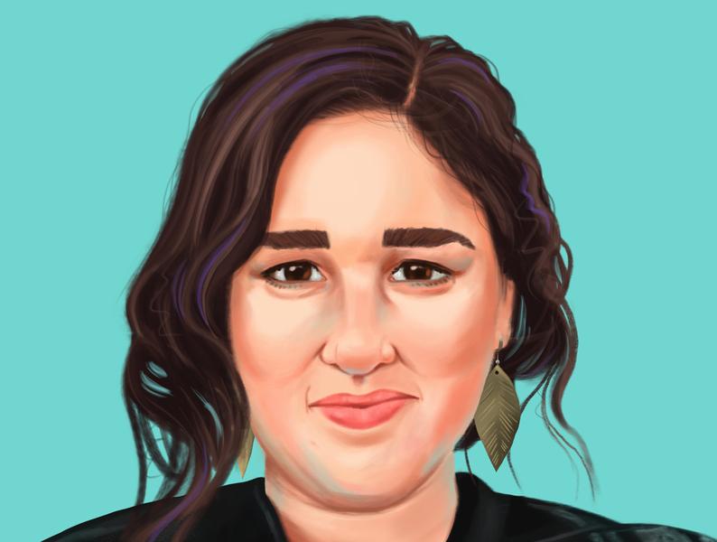 Krystal illustration procreate ipadpro digital painting portrait painting portrait