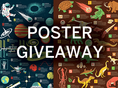 Poster Giveaway space dinosaur poster screen print art giveaway book haiyan philippines