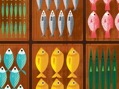 Fish Market fish market illustration philippines palengke book
