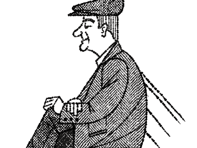 Boston Old Man character old man man sitting textures pen ink drawing illustration