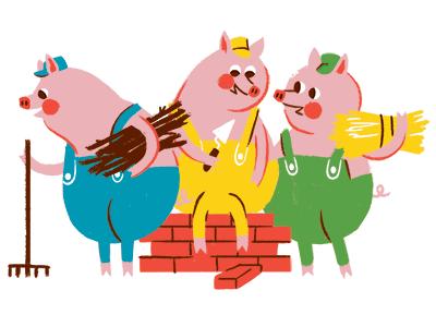 Three Little Pigs by Brad Woodard  Dribbble