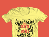 Little braver of the woods tee large