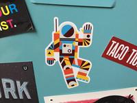 Hello Spaceman Sticker
