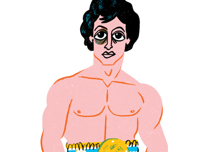 Rocky Balboa rocky boxer character illustration muscles
