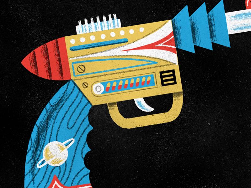 Spaceranger pistol dribbble