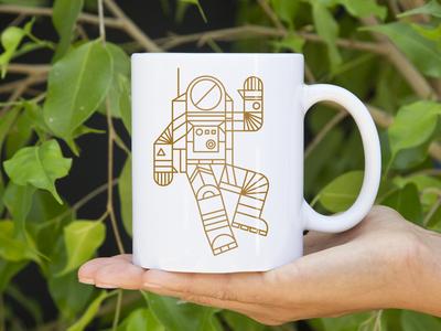 Hello Spaceman Mug