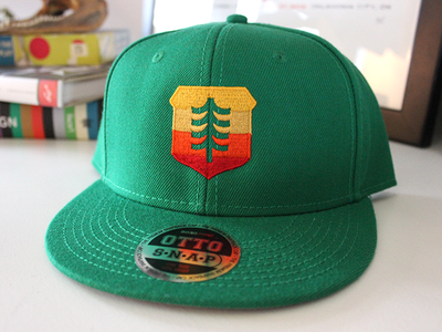Brave Shield Baseball Hat - Sunrise Edition gradient baseball embroidered logo icon shield badge cap hat