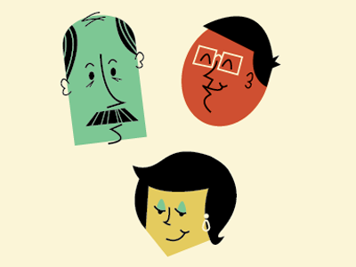 Character Icons modern illustration people cartoon