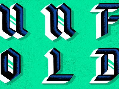 Blackletter Experiment gothic texture lettering type blackletter